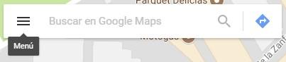 menú de google maps