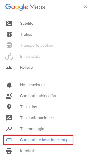 compartir mapa google