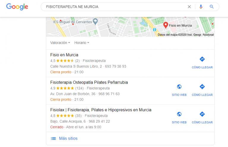 analisis de la competencia fisioterapeuta en Murcia